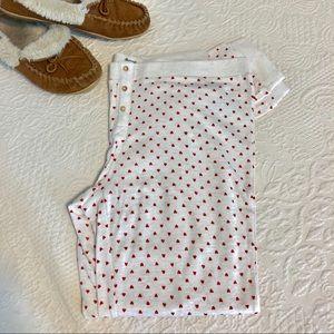 Madewell Pajama Pant in Heart Print